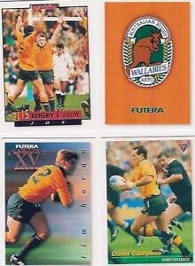 FUTERA-Rugby-Union-1995-Full-Set-of-110-Australian-Collectors-Cards