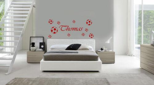 personnalisé Enfant Tête de lit Football Autocollant Art Mur//Autocollants