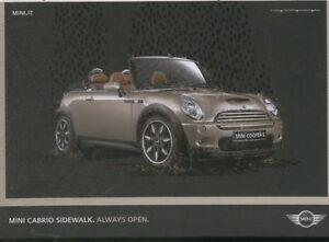 RECLAME-0270-pubblicita-MINI-cabrio-COOPER-sidewalk-always-open-auto-Postkarte