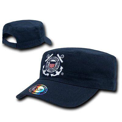 Navy Blue Coast Guard USCG BDU Cadet Castro Military Baseball Cap Hat Caps Hats