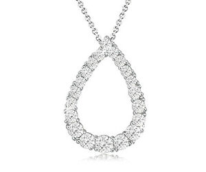 Four-Prong-Set-Cubic-Zirconia-Pear-Shaped-Pendant