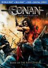 Conan the Barbarian (Blu-ray/DVD, 2011, 3-Disc Set, Canadian; 2D/3D)