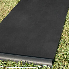 new solid black durable rayon wedding aisle runner 100 ft pull cord