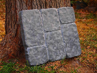 2 New Paver Stone ABS Plastic Molds Cobblestone Concrete Cement Plaster Walkway