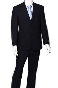 100-Wool-Casual-Italian-Men-Suit-Designer-Two-2-Button-Tailor-Made-Navy-Blue