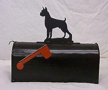 BOXER MAILBOX TOPPER SIGN dog AKC Steel metal art decor