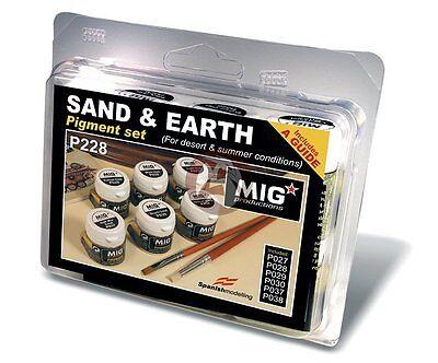 Mig Productions Sand & Earth Pigment Set (P027+P028+P029+P030+P037+P038) P228