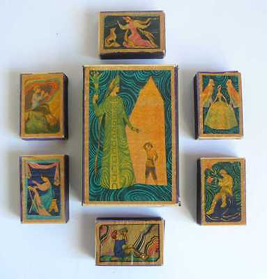 1960s USSR Russian Fairy Tales Matchboxes Set of 7