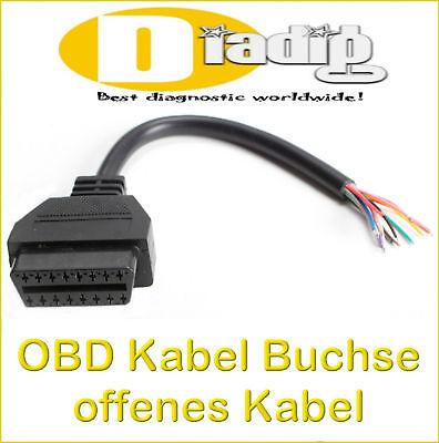Diagnose Stecker Buchse 16 polig Kontakte OBD II 2 OBD2