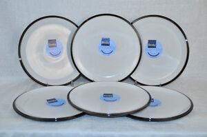 DENBY Everyday Black Pepper Dinner Plates Set/6 New | eBay