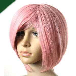 Cosplay-Short-Light-MilkShake-Pink-Hair-Wig-Z92