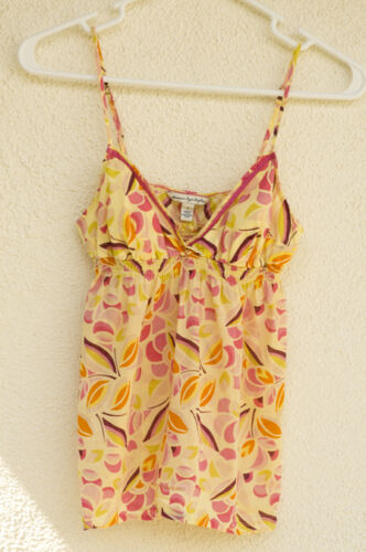 American Eagle Baby Doll Cami Mod Retro 60s 70s Style Geometric Slices Size 00-0