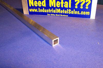 "3/4"" x 60""-long x 1/8"" Wall 6063 T52 Aluminum Square Tube-->.750"" x .125"" wall"