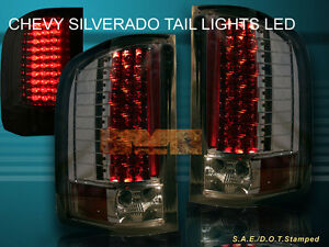 07 13 chevy silverado tail lights led smoke 2008 2009 2010. Black Bedroom Furniture Sets. Home Design Ideas