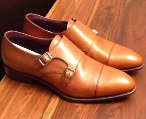 Rare-Carmina-Inca-Double-Monk-Strap-Shoes-Size-10-1-2-NIB