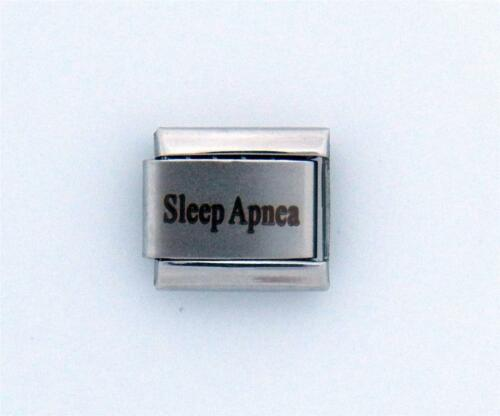 Sleep Apnea Laser Medical Alert for Italian Charm Bracelets Free Card