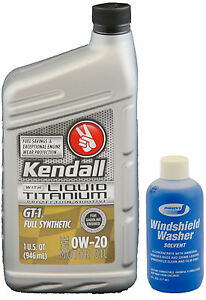 Kendall Gt1 Full Synthetic Motor Oil 0w20 W Liquid