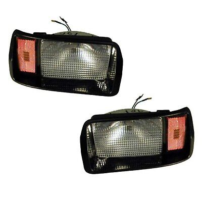 Club Car Golf Cart DS 1993-98 Headlight Set Black