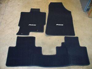 genuine oem 2007 2008 acura rdx graphite black carpet floor mat set. Black Bedroom Furniture Sets. Home Design Ideas