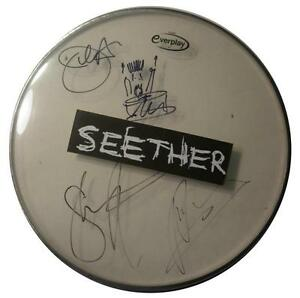 SIGNED-SEETHER-AUTOGRAPHED-DRUMHEAD-W-PICS