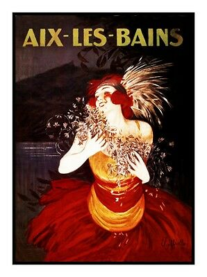 Leonetto Cappiello's Aix Bains Poster Counted Cross Stitch Chart Free Ship USA