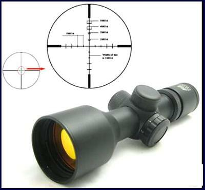 NcSTAR 3-9X42 Compact P4 Sniper Red Illuminated Scope with Ruby Lens -- SEC3942R
