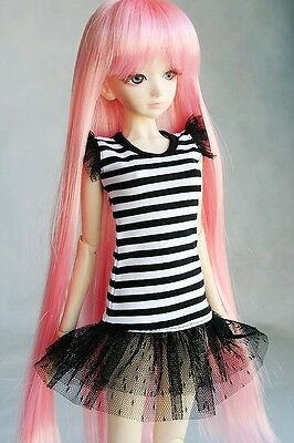 [wamami]108# Black & White Stripe Clothes/Dress 1/4 MSD DOD BJD Dollfie