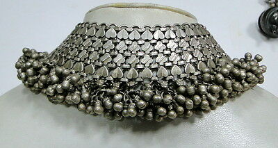 ethnic tribal  ` old silver anklet /necklace choker jewelry