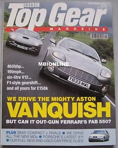 Top Gear 092001 featuring Aston Martin Ferari Jaguar Ginetta MG Chaterham - <span itemprop=availableAtOrFrom>Blackburn, Lancashire, United Kingdom</span> - If you are unhappy with your purchase I can offer a refund less the postage costs providing the item is returned in the condition it was despatched and in secure packaging.  - Blackburn, Lancashire, United Kingdom