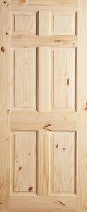 6 panel raised knotty pine stain grade solid core rustic - Solid wood raised panel interior doors ...