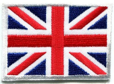 Union Jack British flag United Kingdom Britain applique iron-on patch Med S-102
