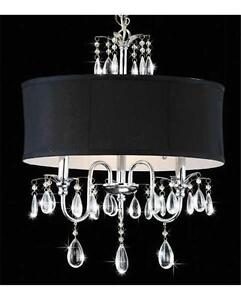 Modern-Black-Drum-And-Crystal-Ceiling-Chandelier-Pendant-Lighting-Fixture