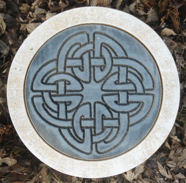 """10"""" mold stepping stone Gothic Pagan Wicca Celtic plaster concrete mould"""