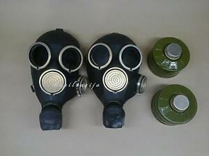 2-black-rubber-gas-mask-GP-7-LARGE-with-40mm-filters