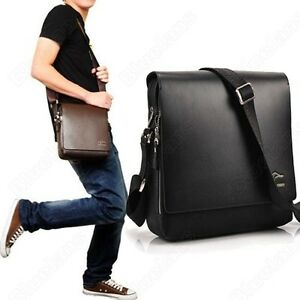 Fashion Kangaroo Mens Leather Crossbody Shoulder Messenger Bag ...