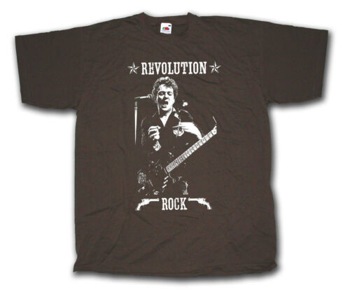 JOE STRUMMER ON STAGE PICTURE T SHIRT - REVOLUTION ROCK CLASSIC PUNK T SHIRT !