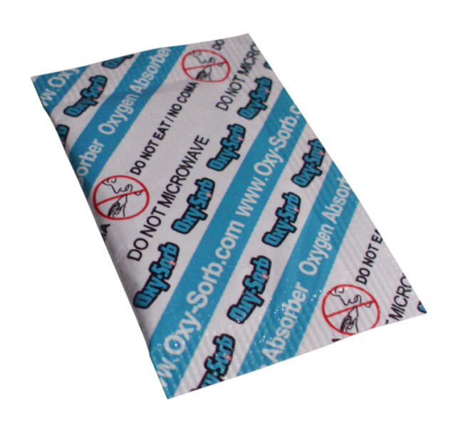 10 Pack Of 100cc Oxygen Absorbers / Scavengers - O2 Absorption by Oxy-Sorb - NEW