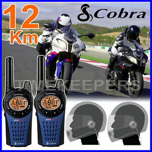 Cobra-MT975-Motorbike-Walkie-Talkie-Radio-Intercom-With-PTT-Close-Face-Headsets