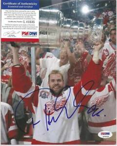 Tomas Holmstrom Signed 8x10 Photo PSA DNA COA Detroit Red Wings Autographed a