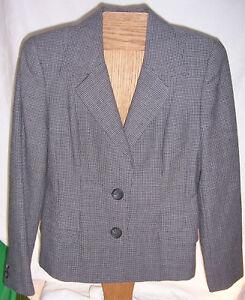 Linda-Allard-Ellen-Tracy-Gray-with-Black-Suit-jacket-Misses-Size-4
