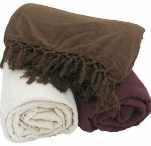 100-Cotton-Handmade-SOFA-BED-THROW-in-3-Colours-amp-5-Sizes-Giant-Jumbo-Size