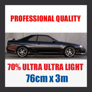 70 Ultra Ultra Light Car Window Tint Roll 76cmx3m Ebay