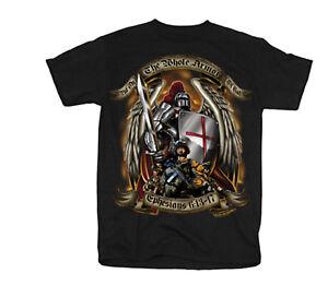 Black-Ink-034-Put-on-The-Whole-Armor-of-God-034-Tee-Shirt-Black