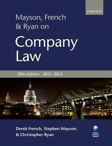 Good-Mayson-French-and-Ryan-on-Company-Law-Paperback-Ryan-Christopher-Mays