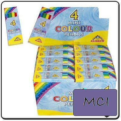 30 Packs of 4 Mini Colouring Pencils Children Party Bag Filler Toy Small Loot