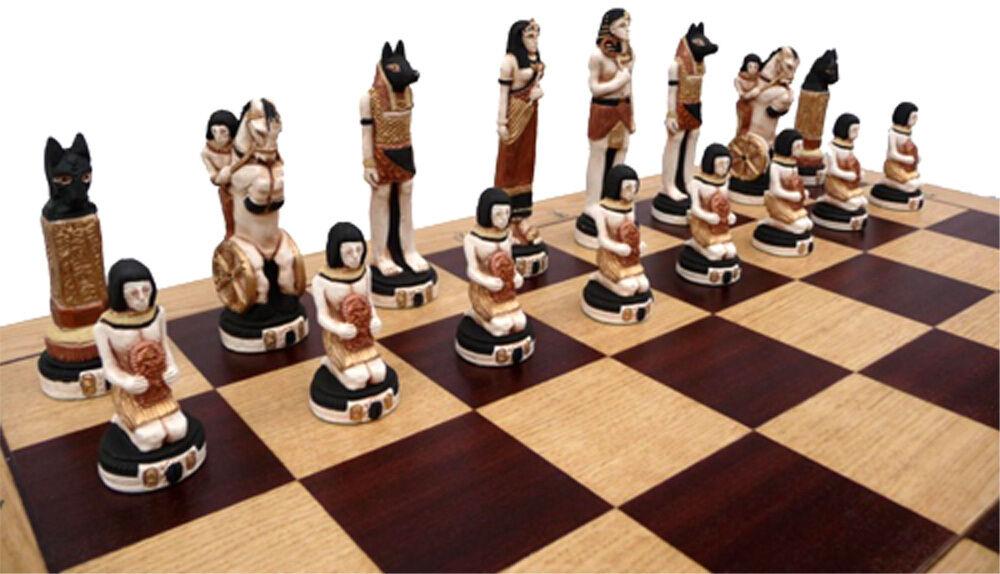 Ajedrez exclusivo ajedrez  egipto  mano pintado 65 x 65 cm kh 130 mm mármol