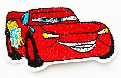 LIGHTNING MCQUEEN CARS Sew Iron On Fabric Embroidered Patch Applique Kids Craft