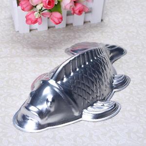 Aluminum Cake Pan Tin 3d Golden Carp Fish Mold Mould 3