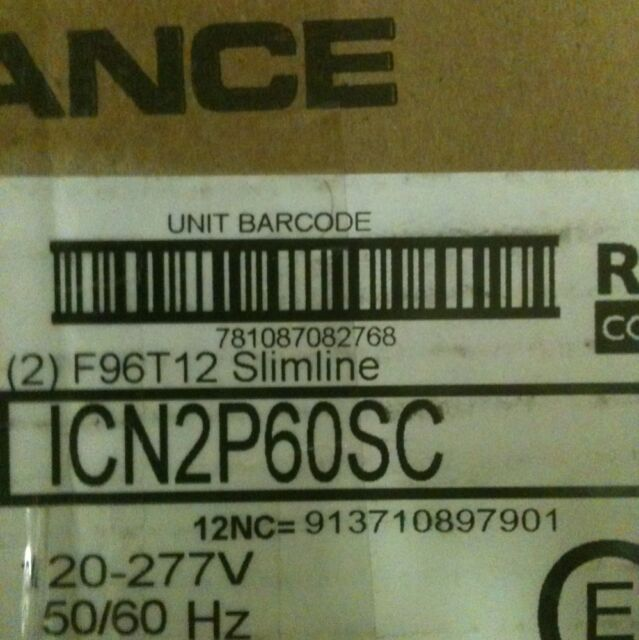 4 Phillips Advance ICN2P60N F96T12 8foot T12 Ballasts-NEW, No Reserve