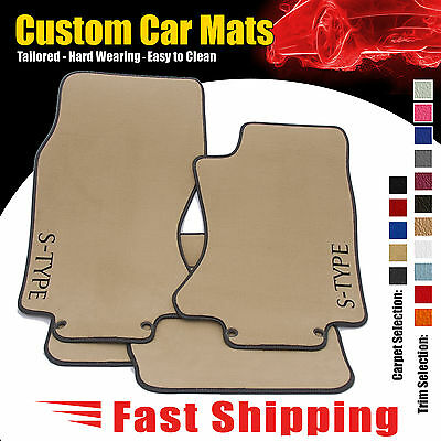 JAGUAR S TYPE 2001 to 2008 AUTO BEIGE CAR MATS + LEATHER TRIM